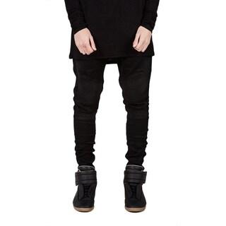 Men's Straight Slim Fit Jeans (Black)