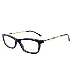 Burberry Womens BE2190F 3001 Black Gold Metal and Plastic Eyeglasses 54mm Frame
