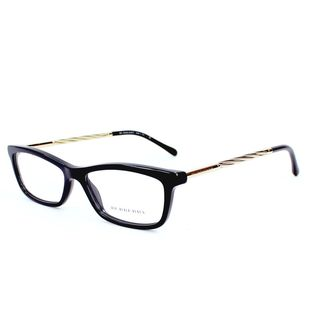 Burberry Womens BE2190F 3001 Black Gold Metal and Plastic Eyeglasses 54mm Frame