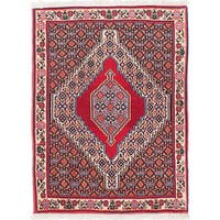ecarpetgallery Hand-Knotted Senneh Red Wool Rug (2'5 x 3'3)