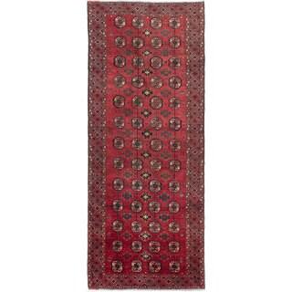 ecarpetgallery Hand-Knotted Finest Baluch Orange Wool Rug (3'9 x 8'5)