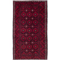 ecarpetgallery Hand-Knotted Persian Vintage Black, Red Wool Rug (3'9 x 6'10)