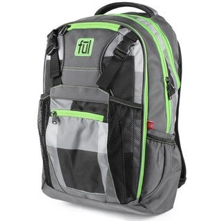 Ful Troubleshooter Grey/Green Laptop Backpack