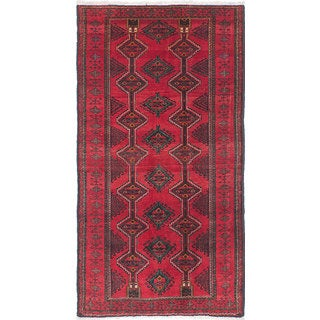 ecarpetgallery Hand-Knotted Persian Vintage Red Wool Rug (3'6 x 6'6)