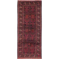 ecarpetgallery Hand-Knotted Persian Vintage Black, Red Wool Rug (3'9 x 9'4)