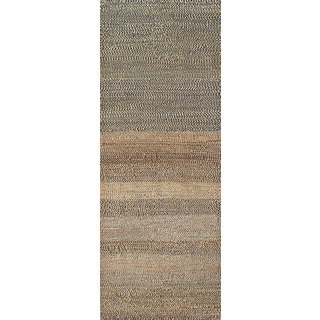 ecarpetgallery Hand-Knotted Persian Gabbeh Blue, Ivory Wool Rug (2'10 x 7'8)