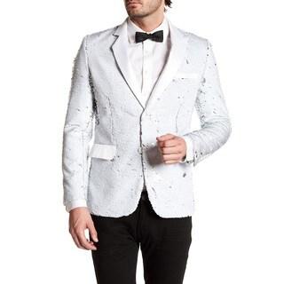 Men's Fashion Satin Lapel Blazer