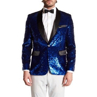 Men's Fashion Sequin Blazer