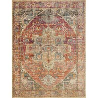 Transitional Bohemian Rust/ Multi Medallion Rug - 12' x 15'