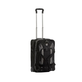 Ful Trans Black/Grey 20-inch Carry On Upright Rolling Duffel Bag