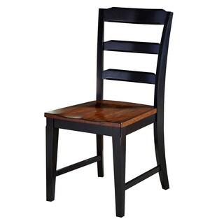 Hillsdale Furniture Avalon Black/ Dark Cherry Dining Chairs (Set of 2)