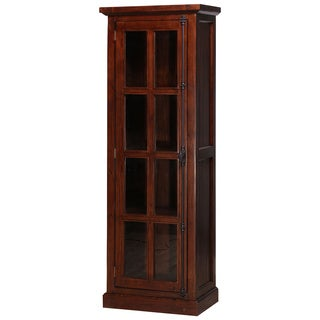 Hillsdale Furniture Tuscan Retreat Rustic Mahogany Tall Single-door Cabinet