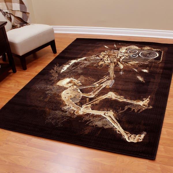 Donnieann Skinz Design Skeleton Rock N Roll Black Color