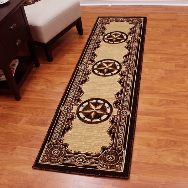 Southwest Rugs Whiskey River Turquoise Rug Collection: Western Rug Runner