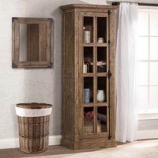 Hillsdale Furniture Tuscan Retreat Aged Grey Tall Single Door Cabinet