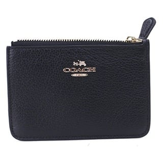 Coach Leather Black Key Pouch|https://ak1.ostkcdn.com/images/products/15859567/P22268976.jpg?impolicy=medium