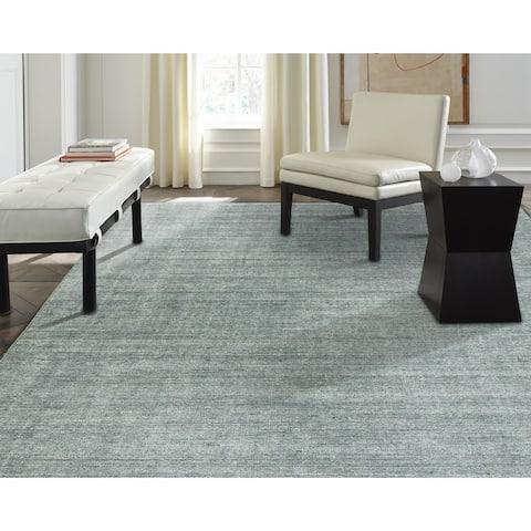 Terra Spa Blue Wool/Silkette Area Rug