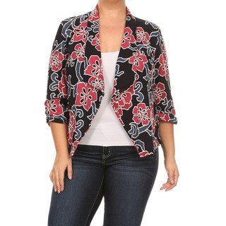 Women's Plus Size Island Floral Blazer Jacket