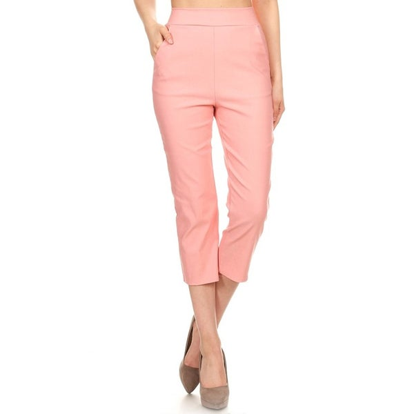 Women's Tapestry Slim Fit Capri Pants