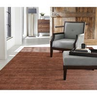 Terra Allspice Rust-colored Wool and Viscose Handmade Area Rug (12'x15') - 12' x 15'