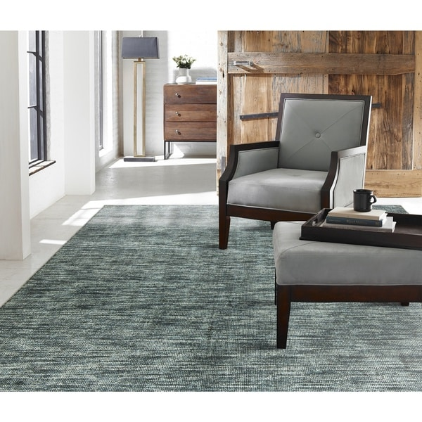 Terra Ocean Waves Blue Handmade Area Rug 12 X27 X