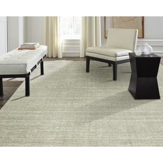 Terra Nickel Ivory Wool Hand Made Area Rug - 12' x 15'