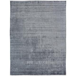 Meridian Handmade Zinc Wool and Viscose Area Rug (12'x15') - 12' x 15'