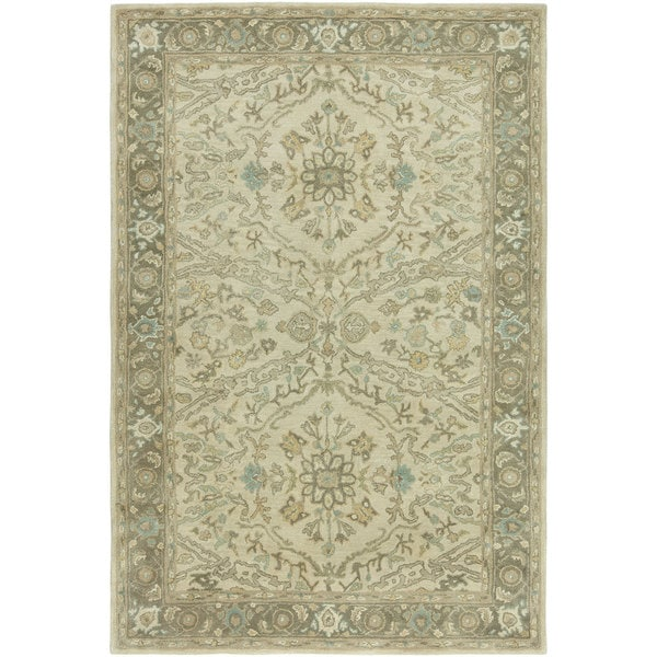 Seville Ivory/Brown Hand-tufted Area Rug (2'6 x 10')