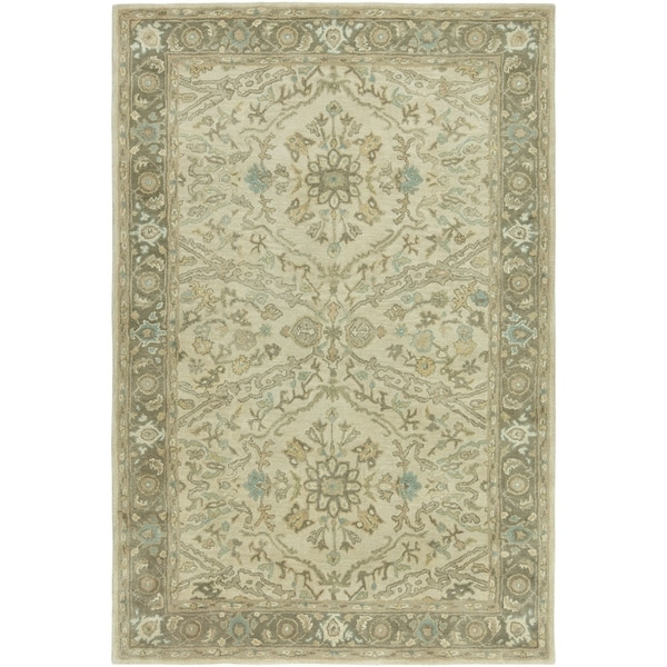 Seville Ivory/Brown Hand-tufted Area Rug - 2'6 x 10'