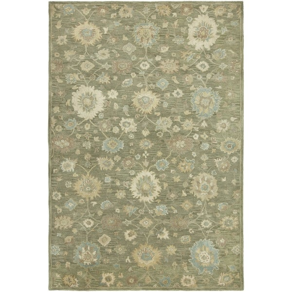 Seville Green Hand-tufted Area Rug - 2'6 x 10'