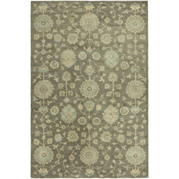 Seville Hand-tufted Brown Wool and Viscose Area Rug (2'6x10')