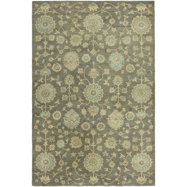 Seville Hand-tufted Brown Wool and Viscose Area Rug (2'6x10') - 2'6 x 10'