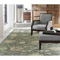 "Seville Mineral Blue Hand-tufted Area Rug (2'6 x 10') - 2'6"" x 10'"