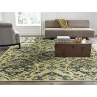 Seville Sand and Bluebell Wool and Viscose Hand-tufted Area Rug - 2'6 x 10'