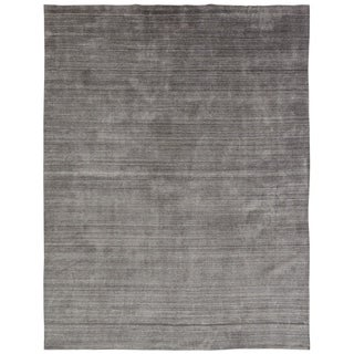 Meridian Fog Grey Handmade Area Rug (2'6 x 10')