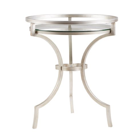 Madison Park Harold Silver/ Metal Accent Table