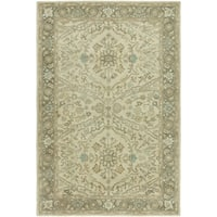 Seville Ivory/Brown Hand-Tufted Area Rug - 2' x 3'