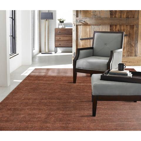Terra Allspice Wool/Viscose Handmade Area Rug