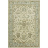 Seville Hand-tufted Ivory/Light Blue Wool and Viscose Area Rug (9'6 x 13')