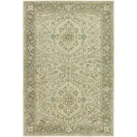 """Seville Hand-tufted Ivory/Brown Wool and Viscose Area Rug (7'6 x 9'6) - 7'6"""" x 9'6"""""""