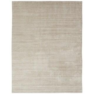 "Meridian Chino Handmade Ivory Wool and Viscose Area Rug (9'6 x 13') - 9'6"" x 13'"