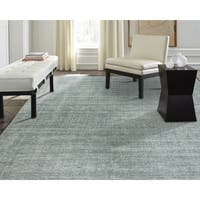 "Terra Spa Blue Wool and Silkette Handmade sArea Rug - 8'6"" x 11'6"""