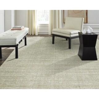 """Terra Nickel Ivory Wool/Silkette Handmade Area Rug (8'6 x 11'6) - 8'6"""" x 11'6"""""""