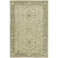 "Seville Oriental Ivory/Brown Wool/Silkette Hand-tufted Area Rug (8'6 x 11'6) - 8'6"" x 11'6"""