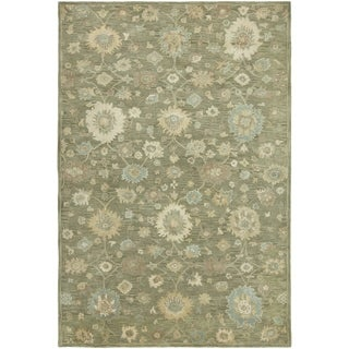 Hand-tufted Seville Green Wool and Viscose Area Rug (8'6 x 11'6)