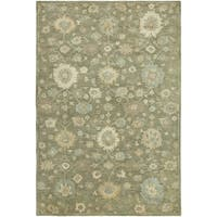 "Hand-tufted Seville Green Wool and Viscose Area Rug - 8'6"" x 11'6"""