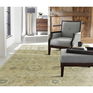 Seville Hand-tufted Sand/Cornflower Wool and Viscose Area Rug (8'6 x 11'6)