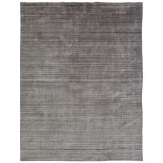 Meridian Grey Fog Handmade Area Rug (8'6 x 11'6)