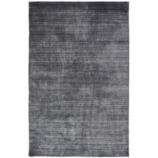 Meridian Charcoal Wool/Viscose Handmade Area Rug (8'6 x 11'6)
