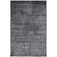 "Meridian Charcoal Wool/Viscose Handmade Area Rug - 8'6"" x 11'6"""